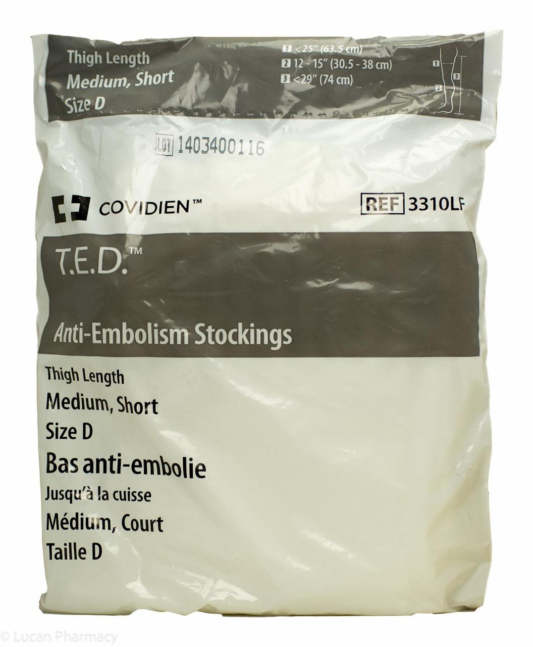 4b7ad9d121 T.E.D.® Anti-Embolism Stockings TED - Thigh Length Medium Short (Size D)