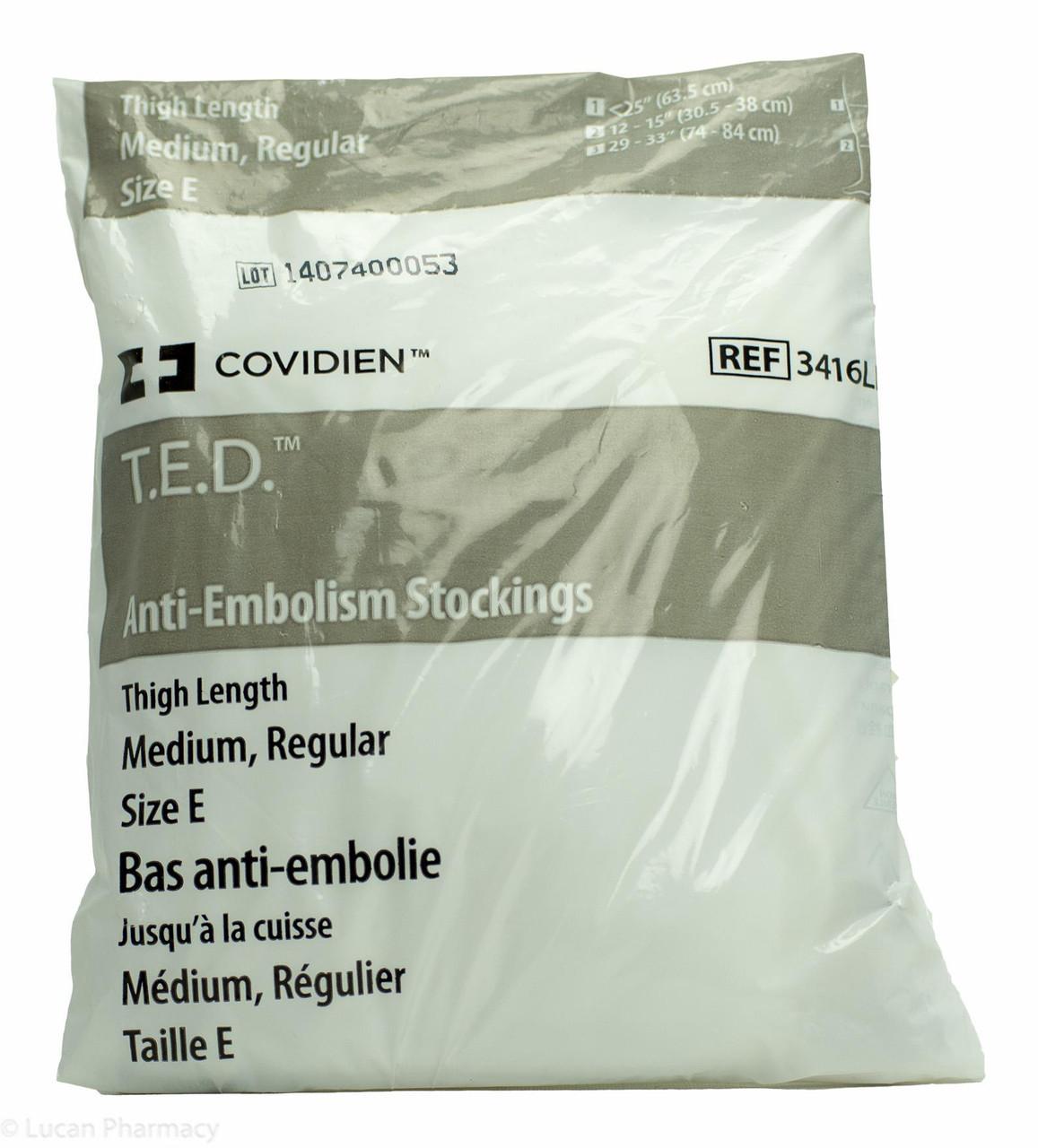 fe5bbdd91a T.E.D.® Anti-Embolism Stockings TED - Thigh Length Medium Regular (Size E)