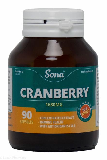 Sona® Cranberry 1680mg – 90 Capsules
