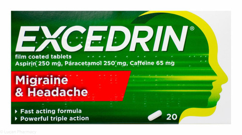Excedrin Migraine And Headache Tablets 10 Tablets P Lucan
