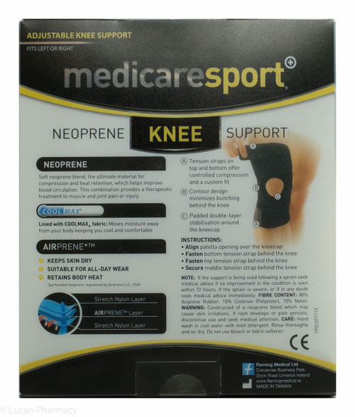 a7d69144d3 Medicare Sport+® Neoprene Knee Support - One Size Fits All - Lucan ...