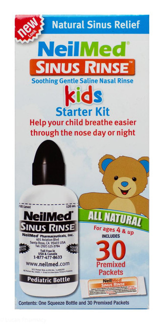 NeilMed® Sinus Rinse Kids Starter Kit - 1 Bottle + 30 Sachets
