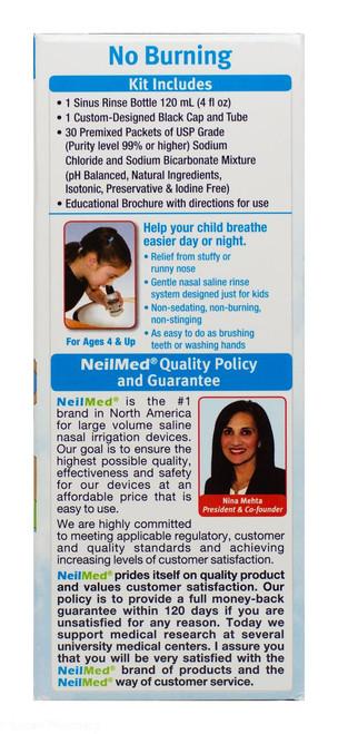 NeilMed® Sinus Rinse Kids Starter Kit - 1 Bottle + 30 Sachets
