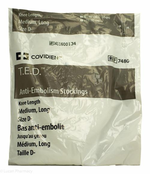 T.E.D.® Anti-Embolism Stockings TED - Knee Length Medium Long (Size D-)