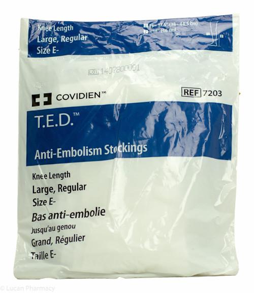 T.E.D.® Anti-Embolism Stockings TED - Knee Length Large Reg (Size E-) – 1 Pair