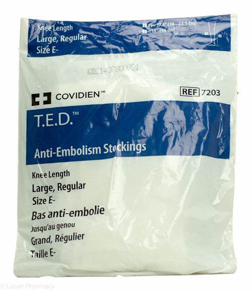 T.E.D.® Anti-Embolism Stockings TED - Knee Length Large Reg (Size E-) – 1 Pair