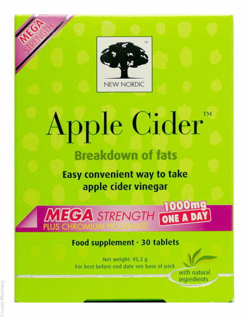 NEW NORDIC™  Apple Cider™ Mega Strength 1000mg - 30 Tablets