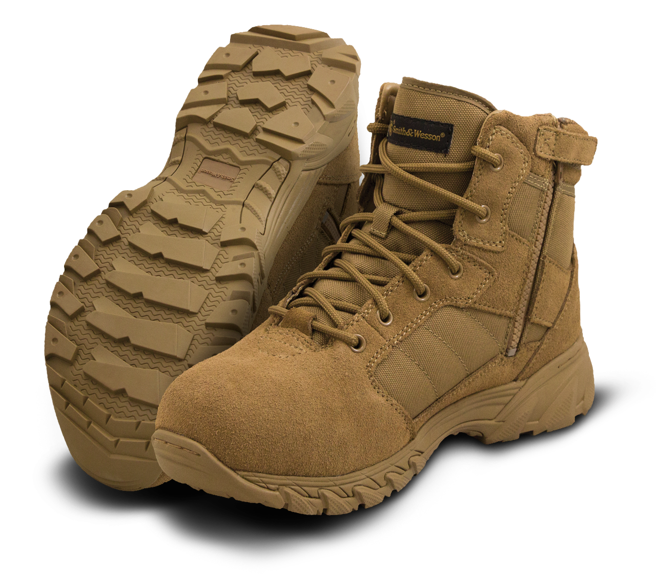 "SMITH & WESSON BREACH 2.0 SIDE-ZIP 6"" TACTICAL BOOTS 810303"