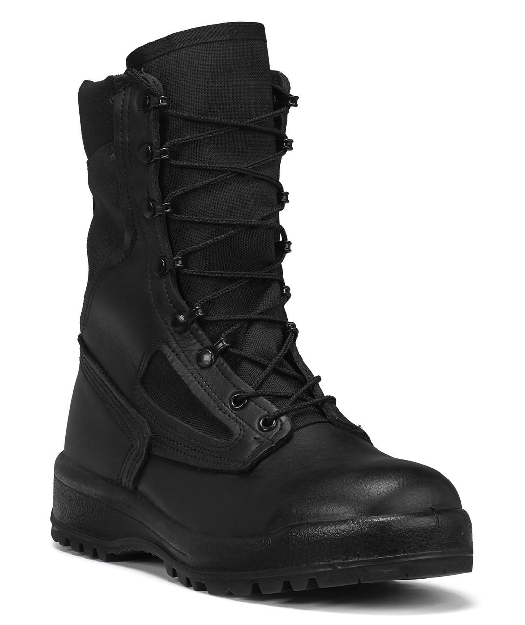 BELLEVILLE 300 TST TROP ST HOT WEATHER BLACK STEEL TOE BOOTS