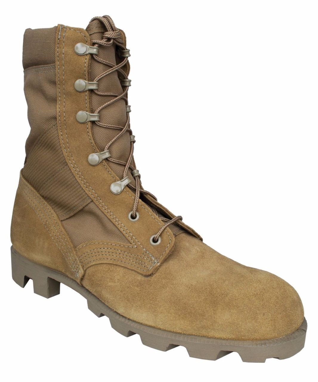 """McRae 8"""" Hot Weather Panama USA-Made Military Boots 8190 Coyote"""