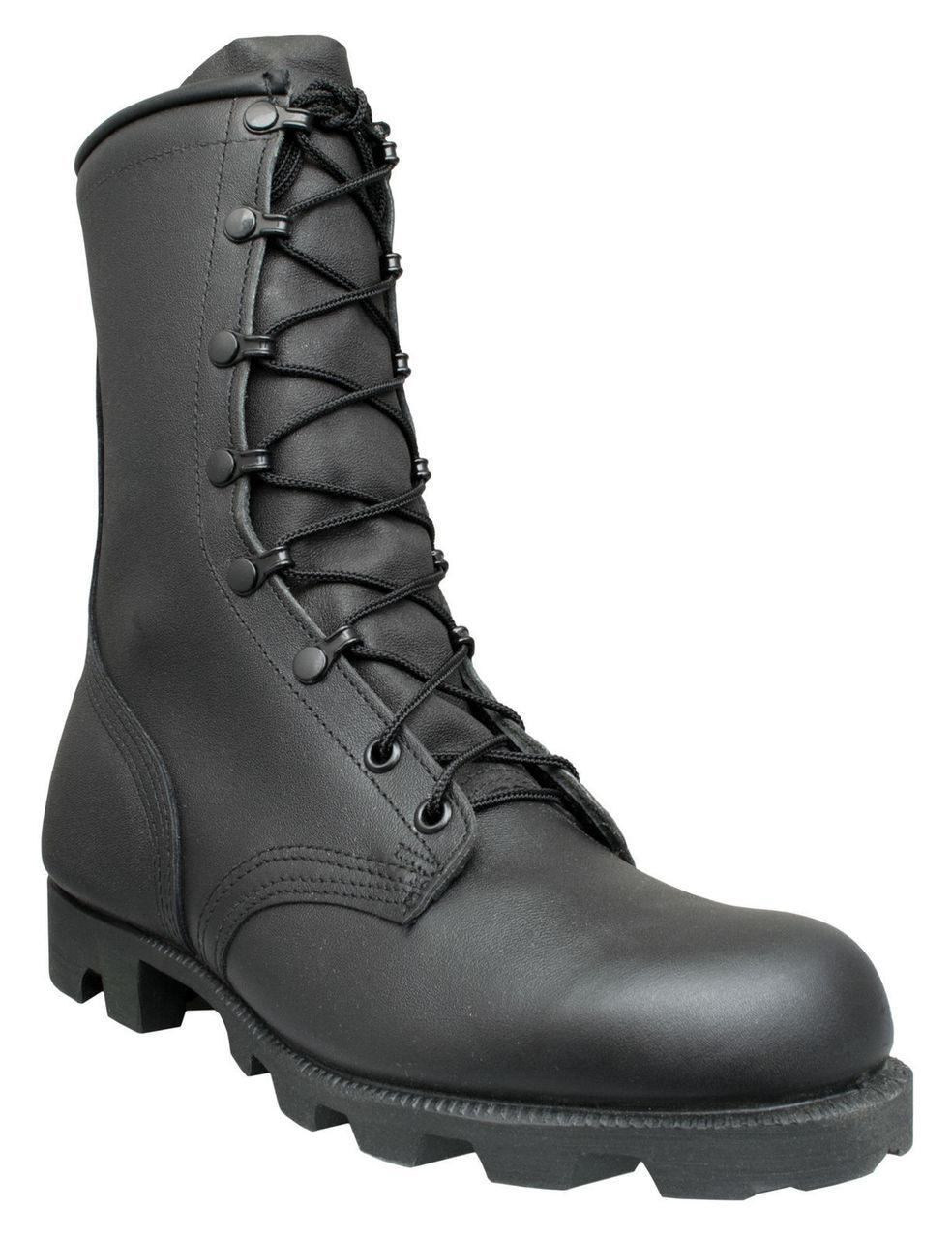 """McRae 8"""" Panama USA-Made Military Jungle Boots 9189 Black"""