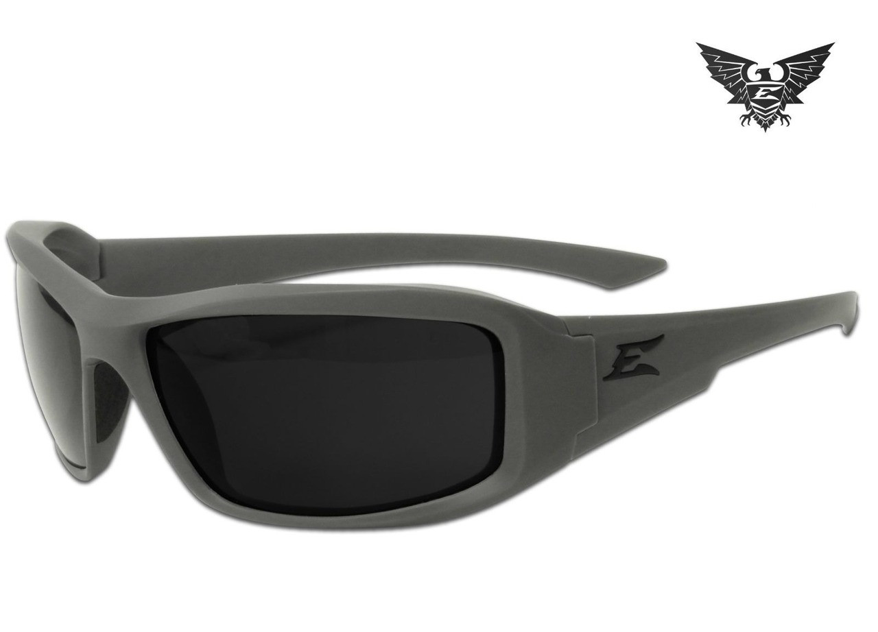 EDGE TACTICAL EYEWEAR FALCON THIN TEMPLE with GASKET BLACK G-15 LENS