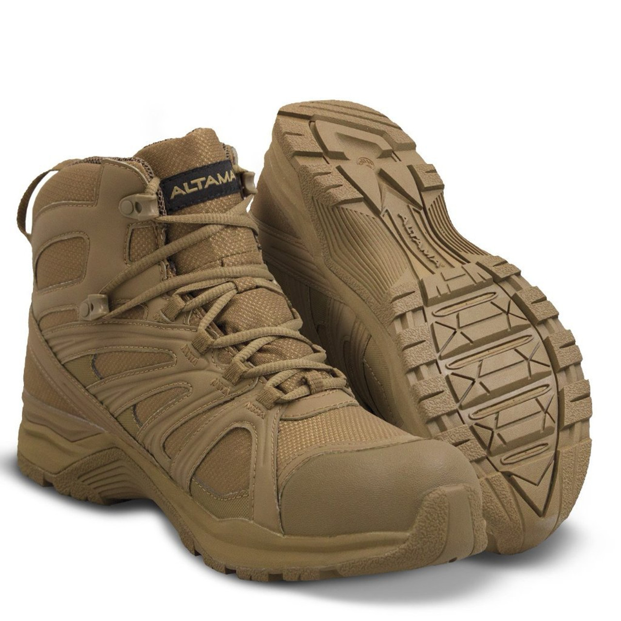 "ALTAMA ABOOTTABAD TRAIL MID WATERPROOF 6"" TACTICAL BOOTS 353203 / COYOTE"