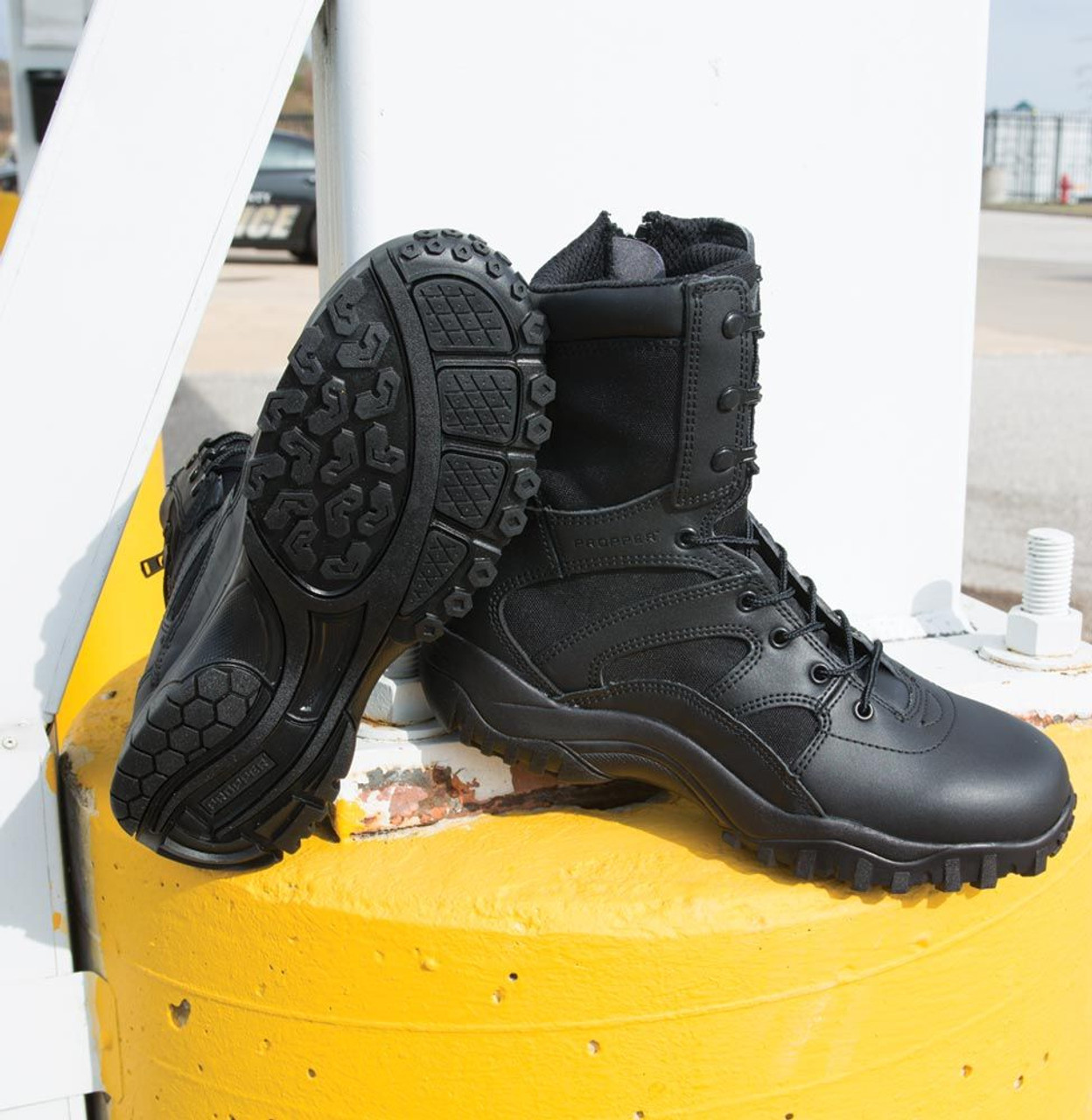 "PROPPER 8"" TACTICAL DUTY SIDE-ZIP BOOTS F4523 / BLACK"
