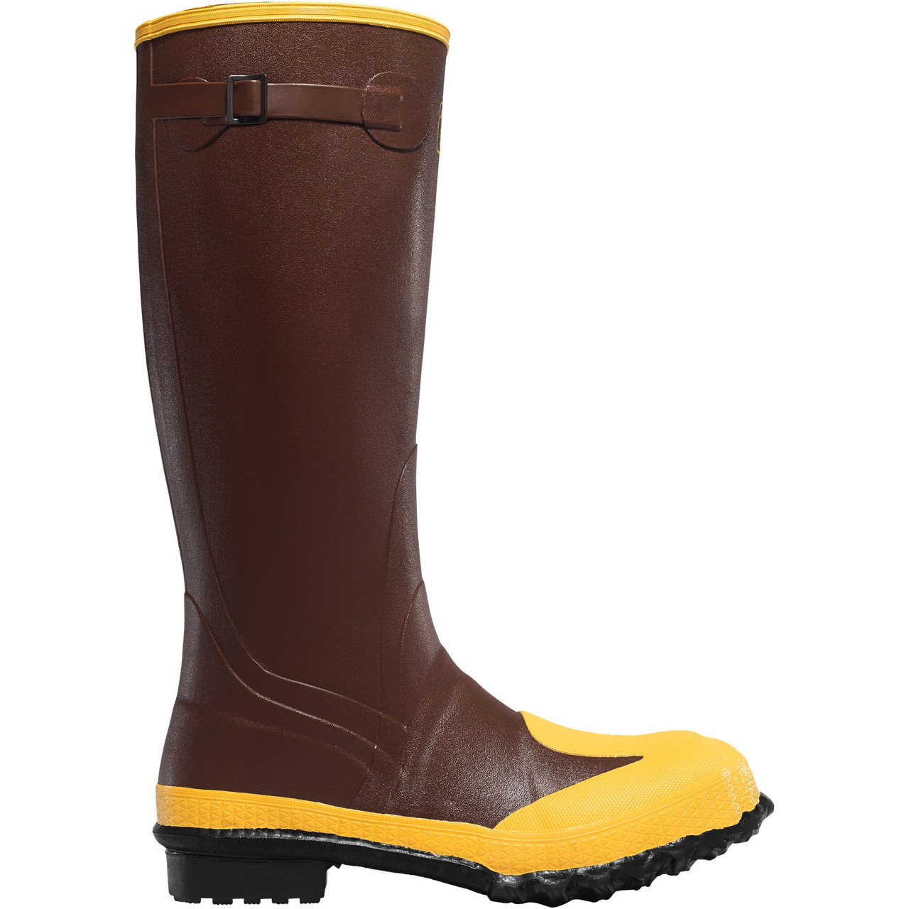 """LACROSSE PROTECT 16"""" RUST METATARSAL GUARD RUBBER WORK BOOTS 00227050"""