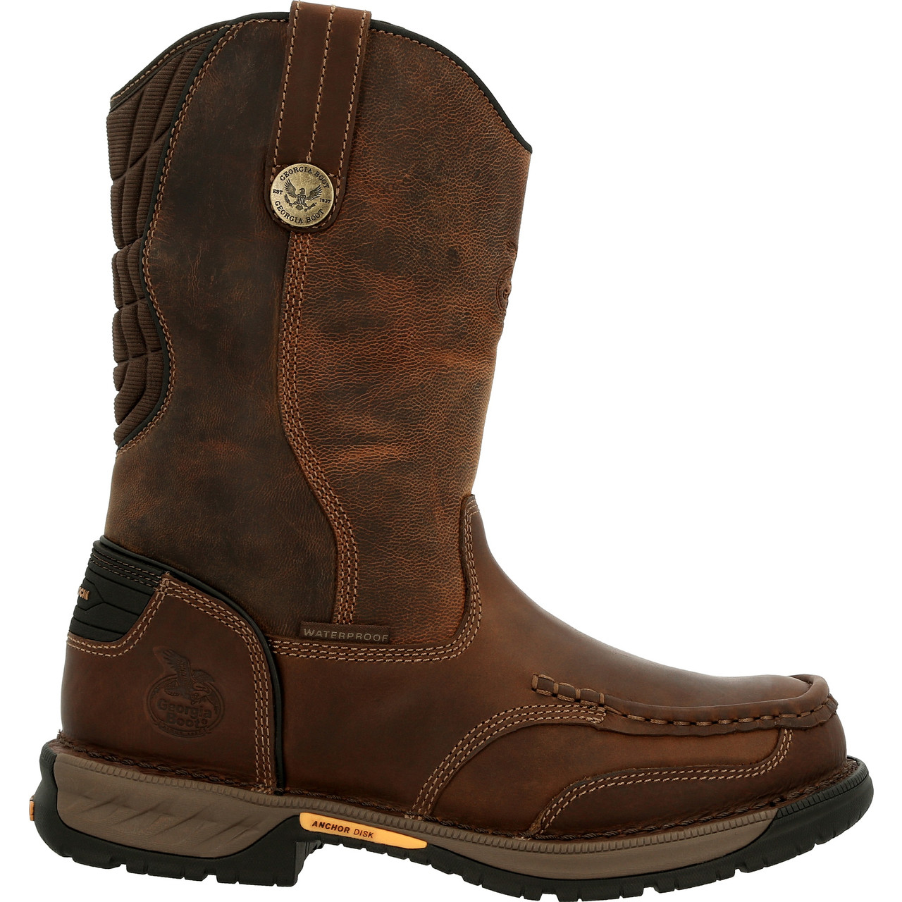 """GEORGIA ATHENS 360 11"""" PULL-ON WATERPROOF WORK BOOTS GB00441"""