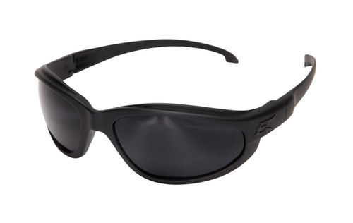 XH611-TT EDGE TACTICAL EYEWEAR HAMEL THIN TEMPLE GLASSES BLACK CLEAR LENS