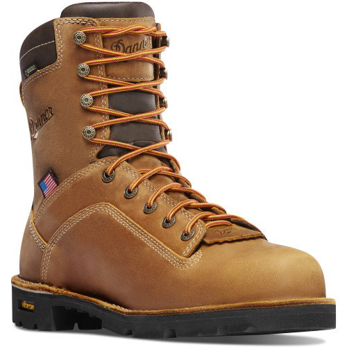 "DANNER® QUARRY USA 8"" 400G COMPOSITE TOE BROWN WATERPROOF WORK BOOTS 17321"