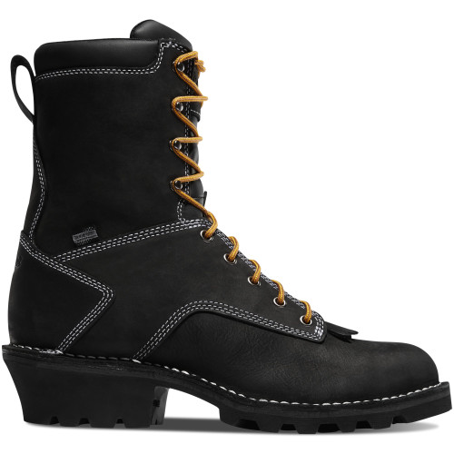 "DANNER® LOGGER 8"" BLACK WATERPROOF WORK BOOTS 15431"
