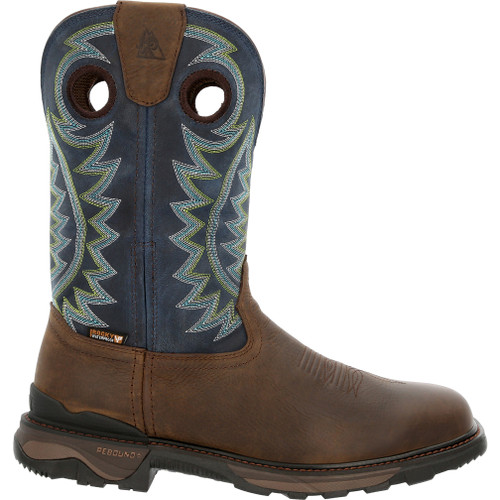 """ROCKY CARBON 6 11"""" WATERPROOF PULL-ON WESTERN BOOTS RKW0351"""
