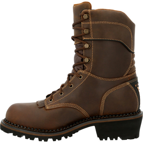 GEORGIA BOOT AMP LT LOGGER COMPOSITE TOE WATERPROOF INSULATED WORK BOOTS GB00491