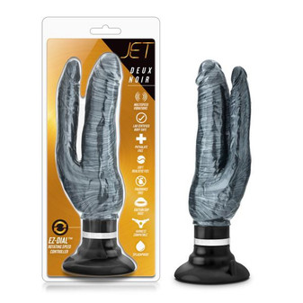 Metallic Double Penetration Vibrating Dildo