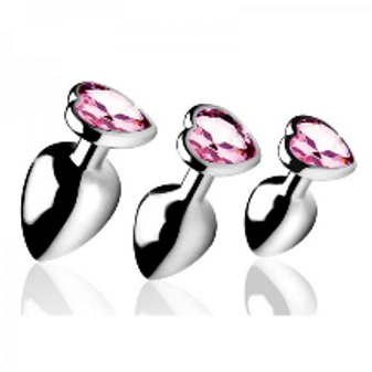 Pink Heart set gem Anal set