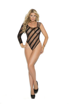 Sheer Crotchless Teddy
