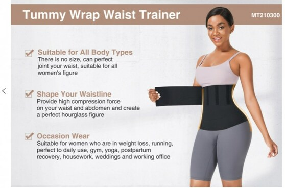 Long Tummy Compression Wrap