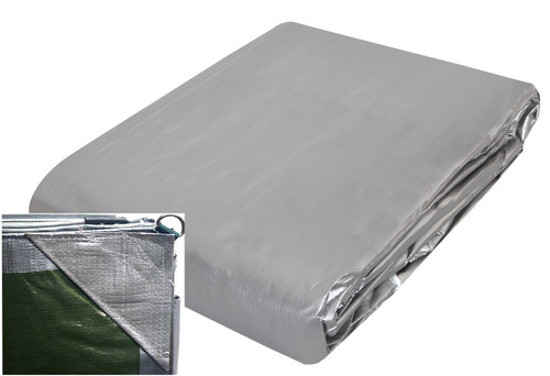 Heavy duty light camping tarp reinforced corners, strong camping tarp