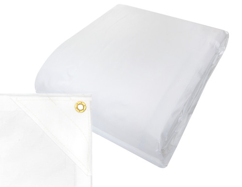 240gsm heavy duty white tarp