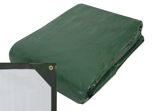 Green White Tarp