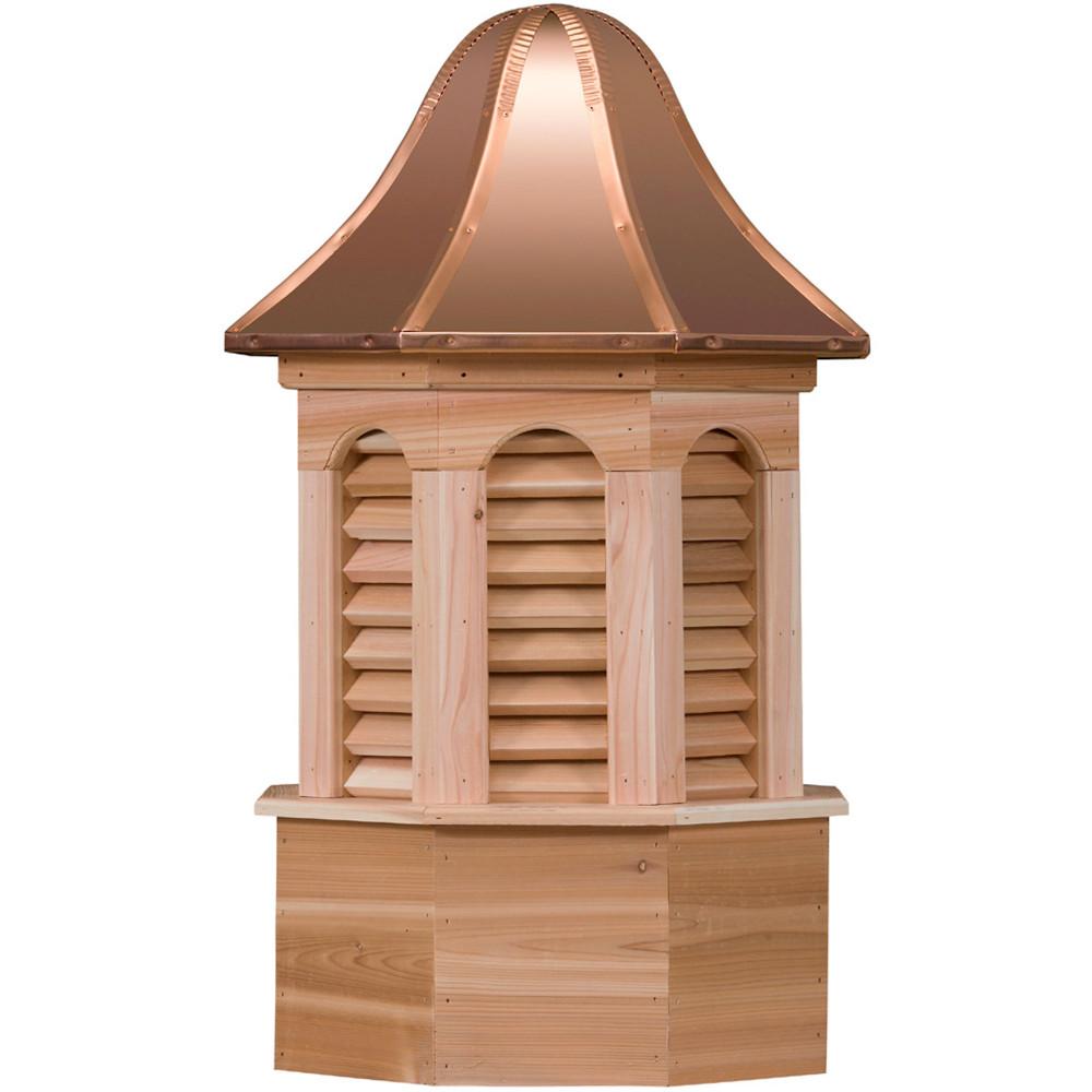 Estate Pinnacle Cedar Cupola With Louvers
