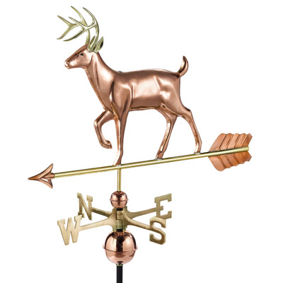 White Tail Buck Copper and Brass Weathervane