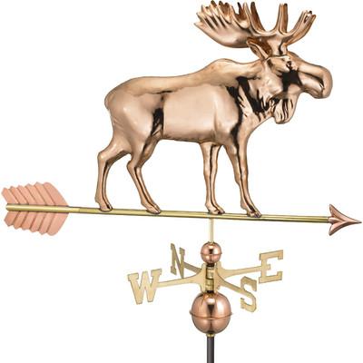 Majestic Moose Copper Weathervane