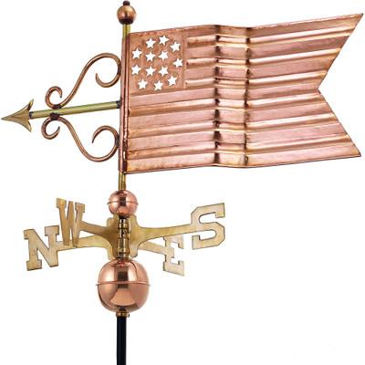 American Flag Copper Weathervane