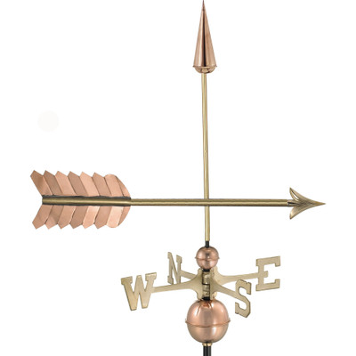 Elegant Arrow Copper Weathervane