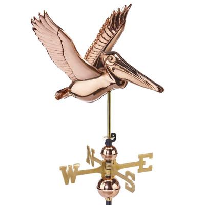 Flying Pelican Copper Weathervane