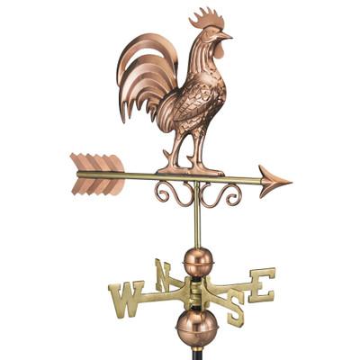Bantam Rooster Copper Weathervane