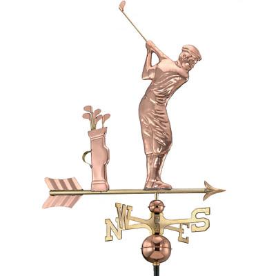Upswing Golfer Copper Weathervane