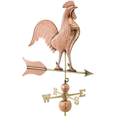 Barn Rooster Jumbo Copper Weathervane