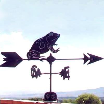 Frog Silhouette Steel Weathervane