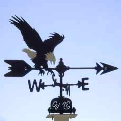 Eagle Silhouette Steel Weathervane