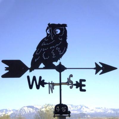 Owl Silhouette Steel Weathervane