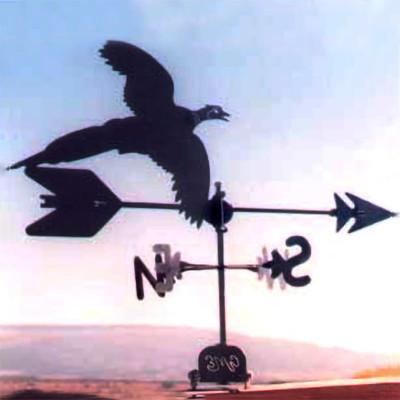 Pheasant Silhouette Steel Weathervane
