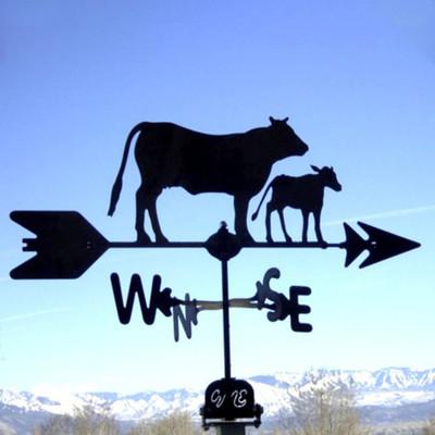 Cow & Calf Silhouette Steel Weathervane