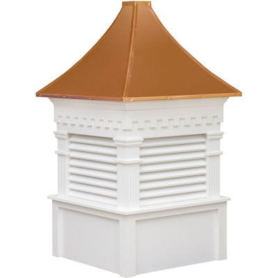 Signature Greenfield Vinyl Cupola With Louvers