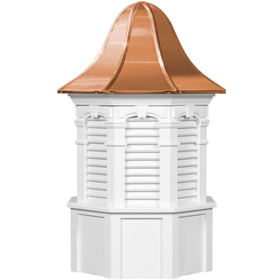Signature Plymouth Vinyl Cupola With Louvers