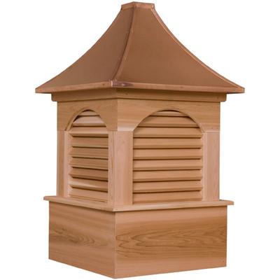 Estate Dalton Cedar Cupola With Louvers