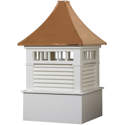 Select Norwood Vinyl Cupola With Transom Windows & Louvers